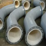 Abrasion resistant ceramic lined pipe and elbow